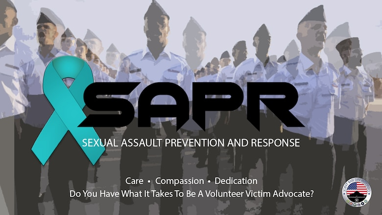 """Graphic displays the Sexual Assault Prevention and Response logo and the words """"Do you have what it takes to be a volunteer victim advocate?"""""""