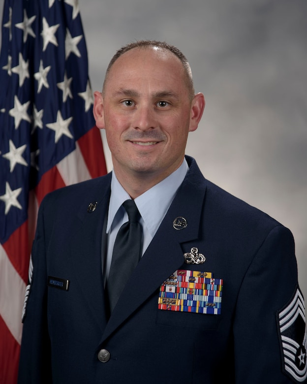 Chief Master Sgt. Aaron Hemberger official photo.