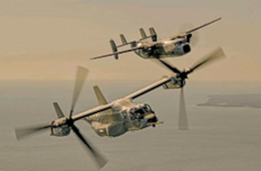 Ospreys in flight