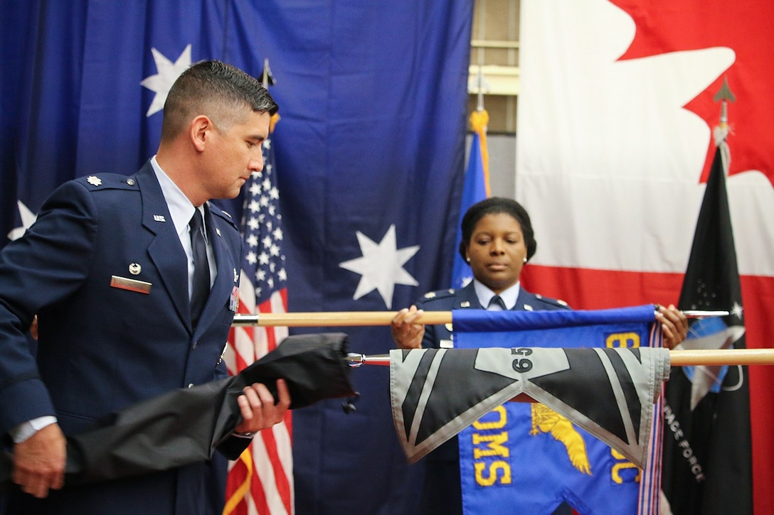 Photo from 614 ACOMS redesignation ceremony