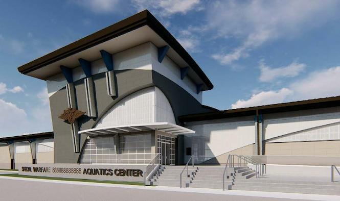 artist's rendering of new $66.6 million aquatics training facility.
