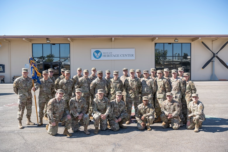 Airmen pose for a group photo