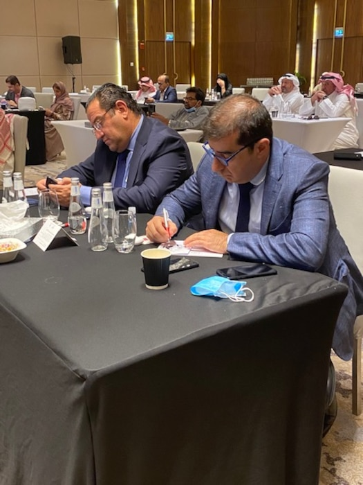 Attendees take in the vast amount of information being presented by Team TAM during the Industry Day Event in Riyadh, Saudi Arabia on June 8 and 9.