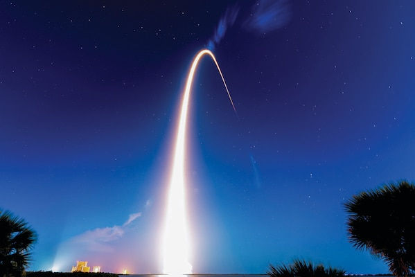 Falcon 9 Starlink L24 rocket successfully launches from SLC-40 at Cape Canaveral Space Force Station, Florida, April 28, 2021 (U.S. Space Force/Joshua Conti)