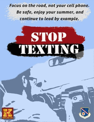 Graphic of man texting while driving.