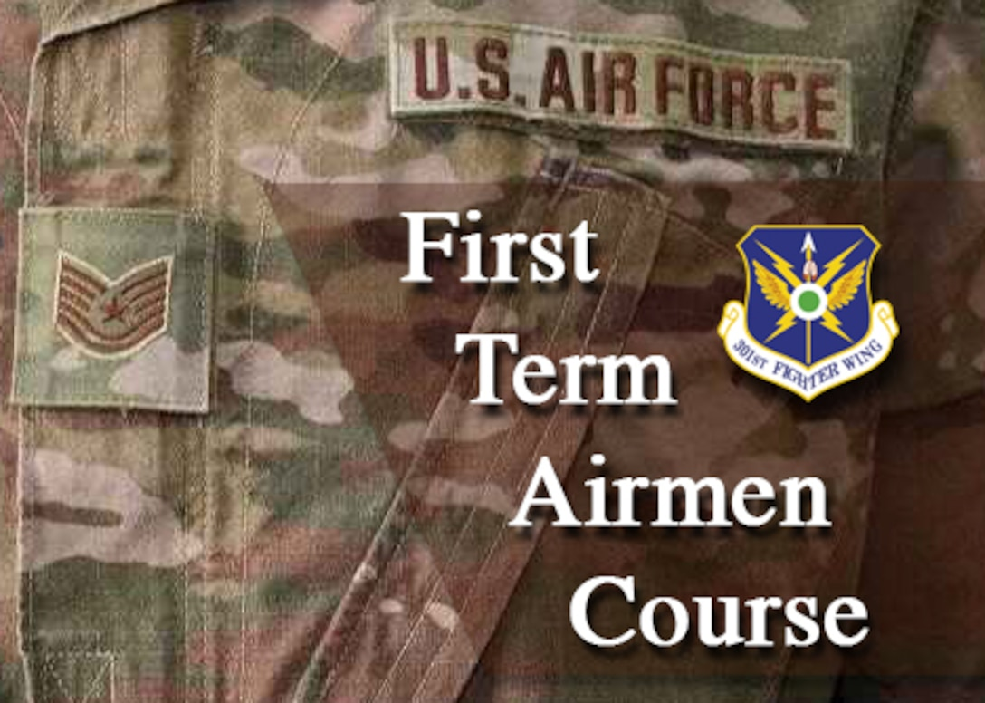 Whether it's Active Duty or the Air Force Reserve, the First Term Airmen Course (FTAC) is designed to help share the resources which are available to them when they arrive on their installation. These types of programs happen at Active Duty Air Force installations but, for the first time in the 301st Fighter Wing's history, the wing hosted an FTAC for 11 of its newest members here from June 14 – 18, 2021. (U.S. Air Force graphic by Jeremy Roman)