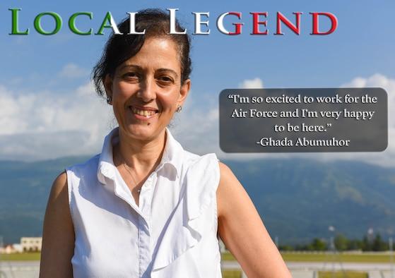 Aviano Local Legend; Ghada Abumuhor