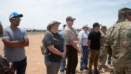 Employers attend a Boss Lift June 18, 2021, on Dugway Proving Ground, Utah, sponsored by the Employer Support of the Guard and Reserve, to watch what their employees do during annual training for the National Guard.