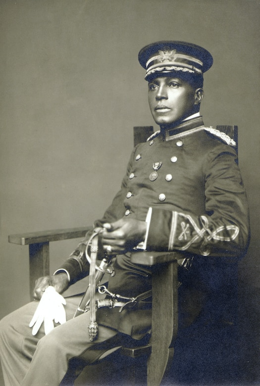 Colonel Charles Young sat for this portrait when he was a major in the U.S. Army. In this photo he is wearing the NAACP Singarn Medal. (Courtesy photo/National Afro American Museum and Cultural Center, Wilberforce, Ohio)