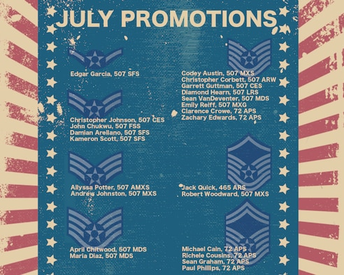 Promotion graphic for July 2021