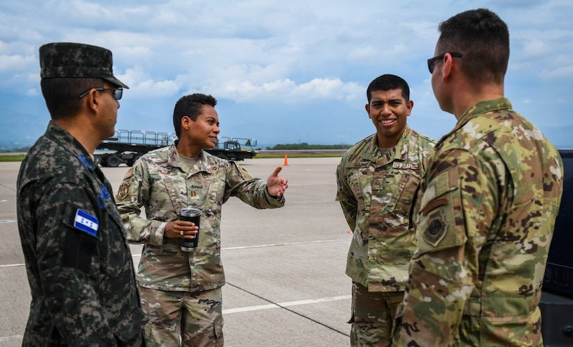 Honduran Air Force maintainers attend 612th ABS partnerships building event