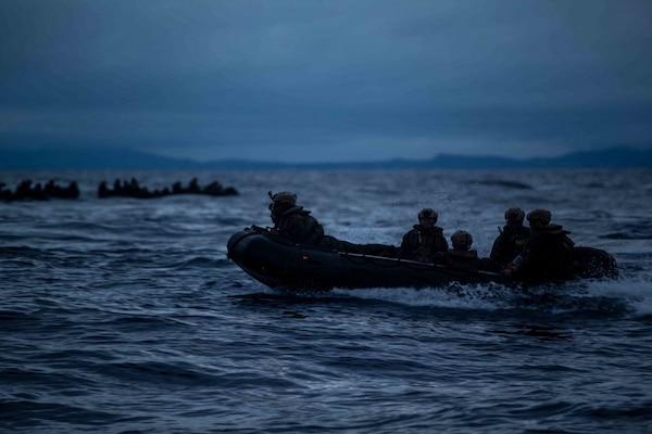 Boat Company Conducts Amphibious Night Raids