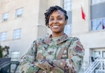 U.S. Air Force Chief Master Sgt. Naconda Hinton, Joint Task Force senior enlisted leader, District of Columbia National Guard, talks about her experiences throughout her career at the D.C. Armory in Washington, D.C. Feb. 7, 2021.