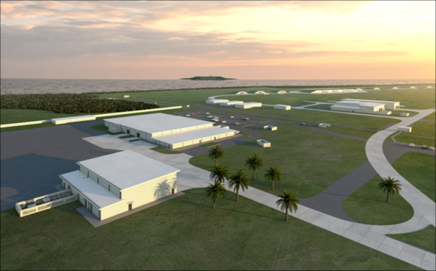 An artist rendering of the new Standoff Weapons Complex at Andersen Air Force Base, Guam.
