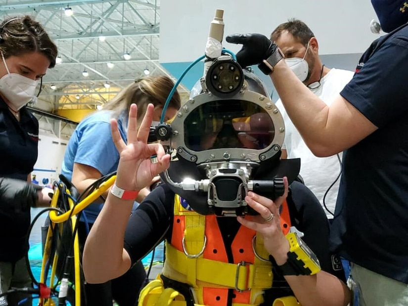 NAVSEA SUPSLAV Program Manager for Diving Life Support Systems Robyn McGinn.