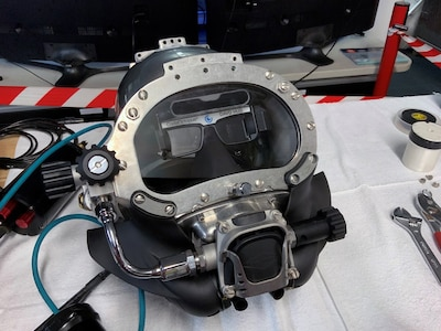 The U.S. Navy' second-generation Diver Augmented Vision Display (DAVD) system is an evolving technology that allows divers to improve underwater task efficiency for potential use in NASA's planned return to the moon.