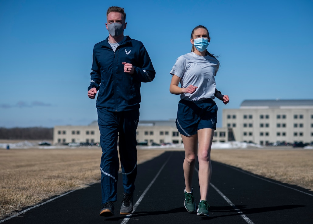 Air Force Uniform Office put updated versions of the Air Force physical training (PT) uniform through their paces)