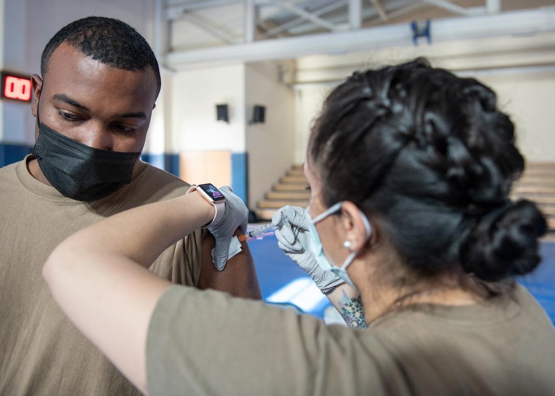 31 FW Airmen receive second Moderna COVID-19 vaccine