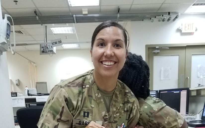 Capt. Meagan Barker is a 66S (Critical Care Nurse) working in the Intensive Care Unit (ICU); deployed with the 228th Combat Support Hospital (CSH) deployed to Kuwait. As part of Women's History Month, we are spotlighting her and her deployment mission.