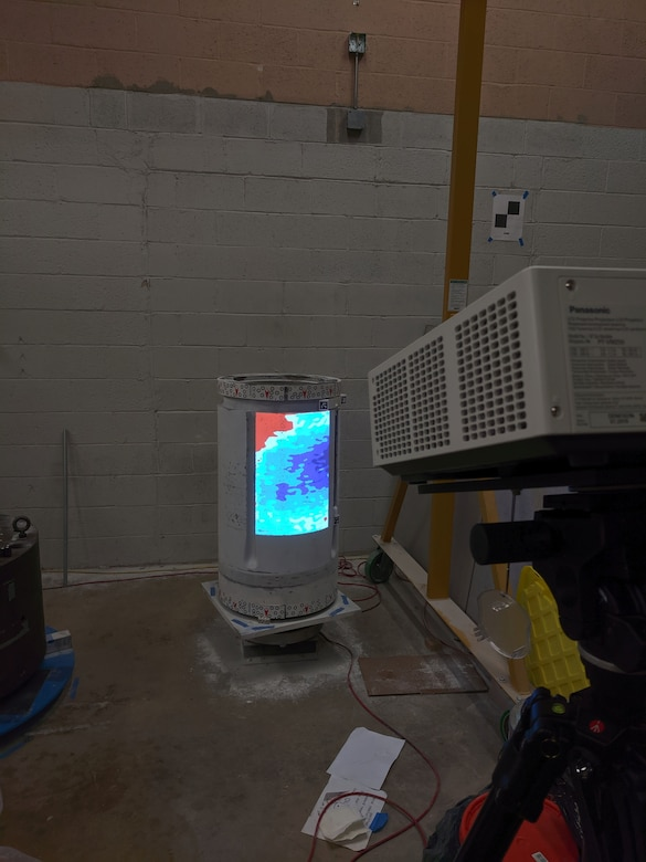 A projector is used as an accessory to the Shaft Taper Analysis Verification Evaluation (STAVE) System.