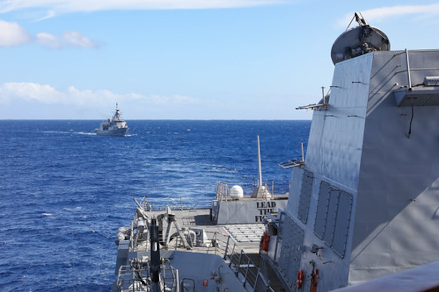 New Zealand, U.S. navies operate together in eastern Pacific