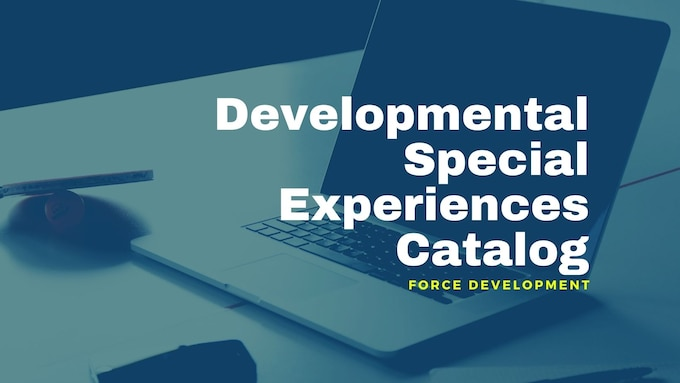 Graphic highlighting Developmental Special Experiences Catalog.
