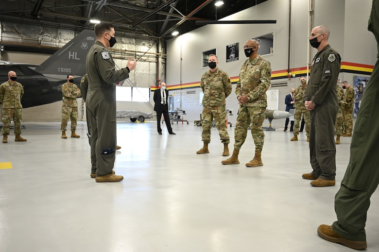 A photo of Air Force Chief of Staff Gen. Charles Q. Brown, Jr.'s visit to Hill Air Force Base, Utah.