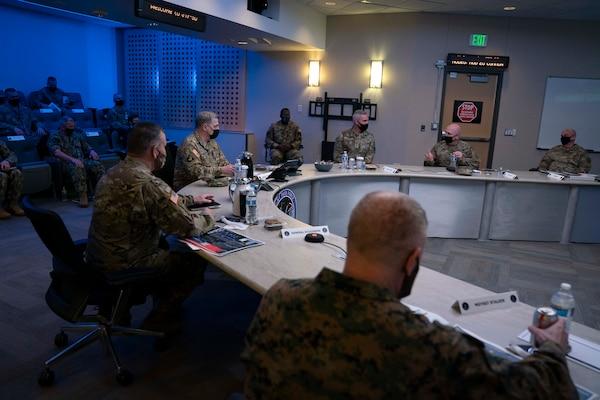 generals receive briefing