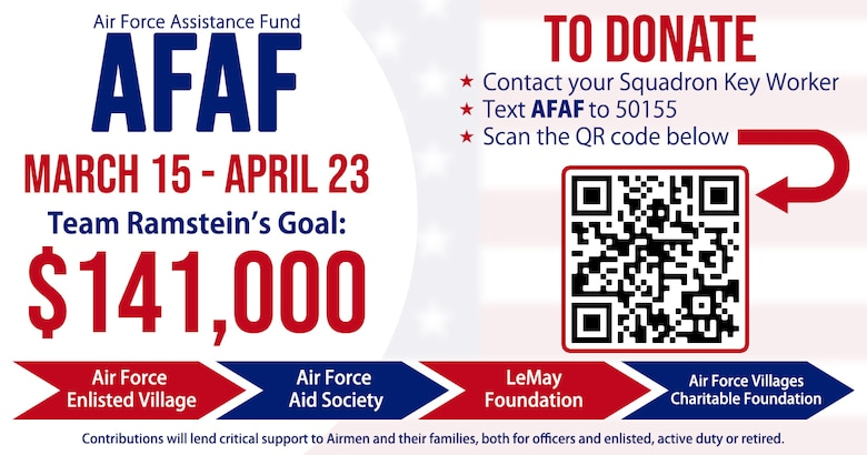 This graphic was created to inform the public of the Air Force Assistance Fund beginning March 15, 2021.