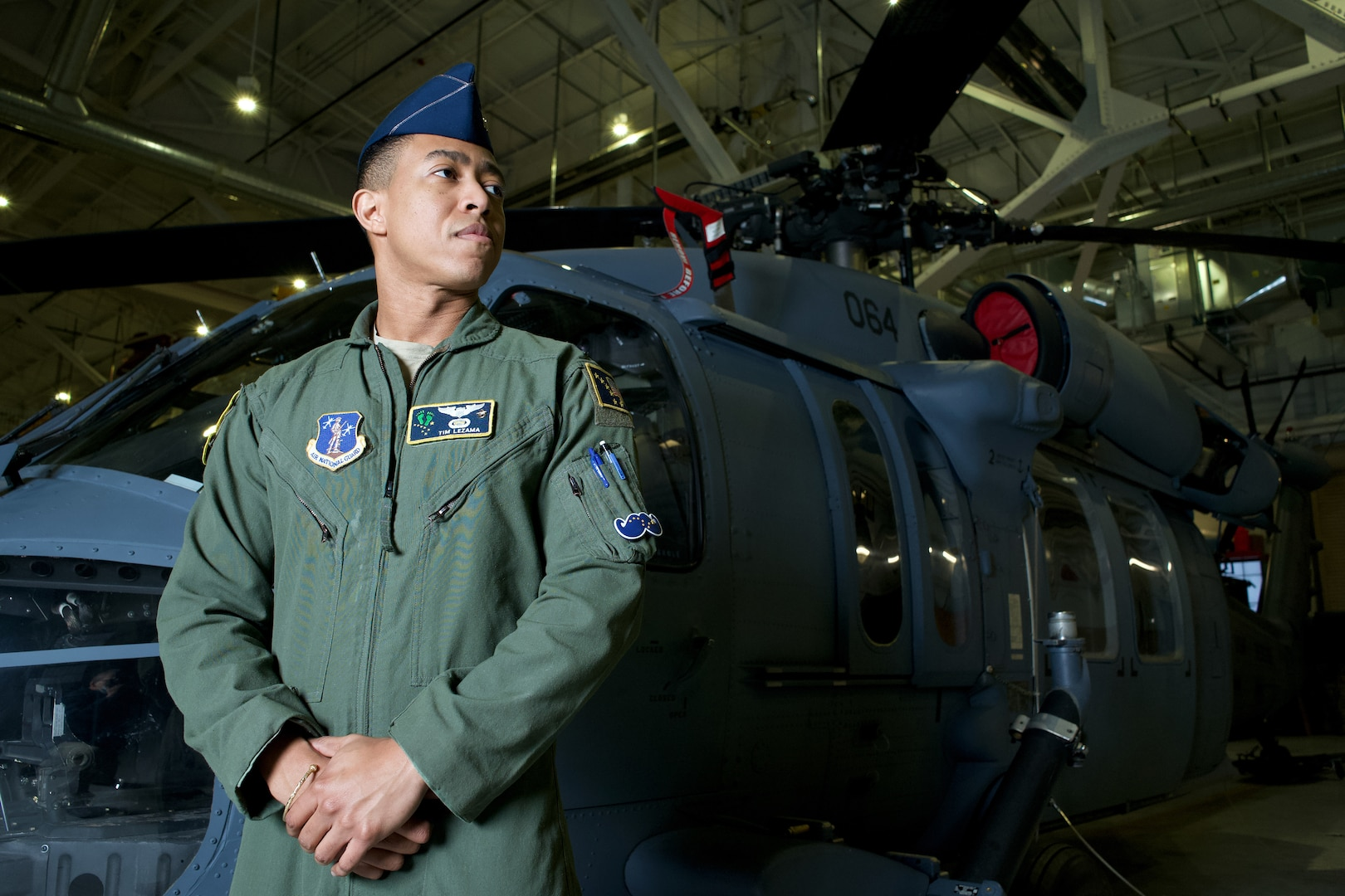 Alaska Air National Guard Capt. Timothy Lezama is an HH-60G Pave Hawk helicopter pilot with 210th Rescue Squadron. Lezama is a native of Parkland, Fla., and his parents emigrated from Trinidad and Tobago.