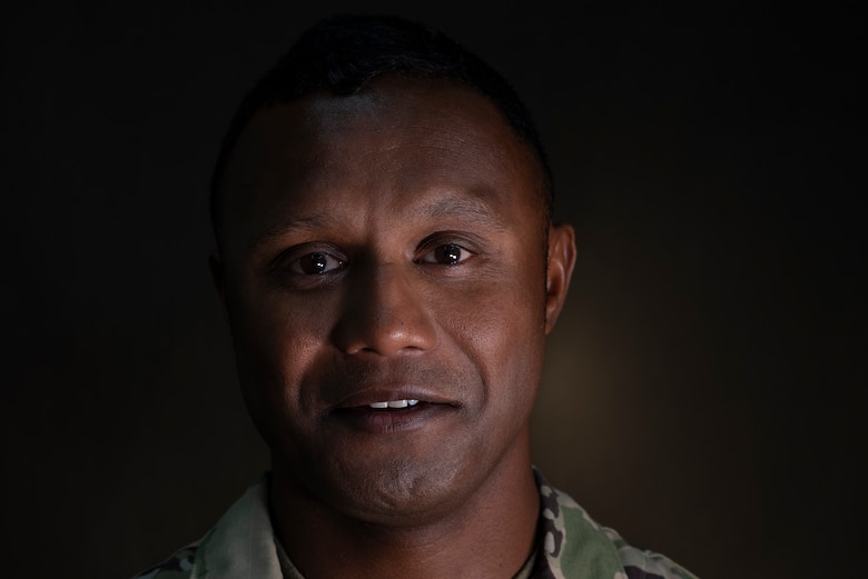 U.S. Air Force Staff Sgt. Roger Remoket stands for a portrait at Andersen Air Force Base, Guam, Feb. 23, 2021.