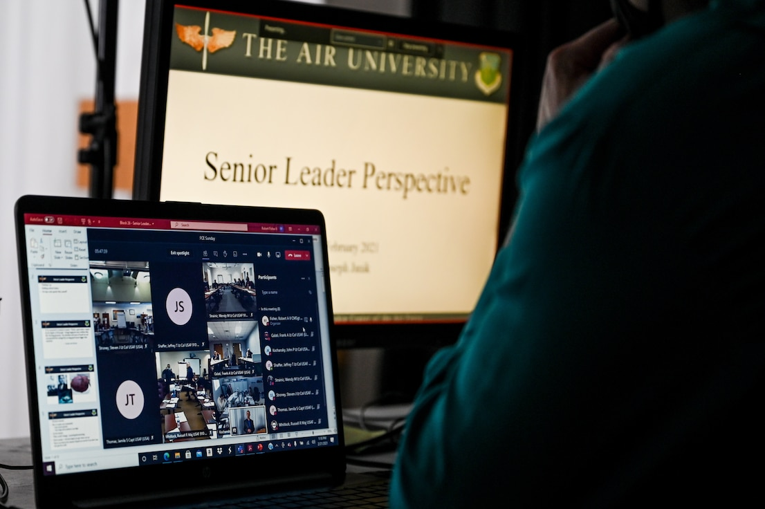 The 910th AW held its third annual Air University FCE course in a sub-virtual format this year, Feb. 18-21, mixing small group in-person discussion and large group virtual learning to efficiently balance a personable learning environment and COVID-19 risk mitigation.