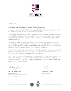 GCHQ and NSA Celebrate 75 Years of UKUSA Agreement