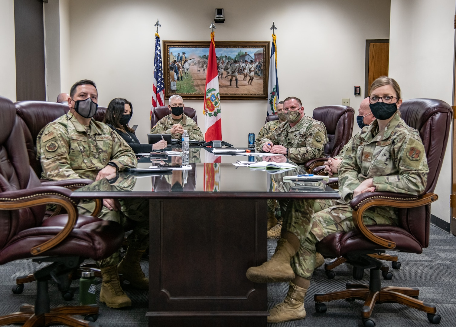 Members of the West Virginia National Guard and the West Virginia Joint Interagency Task Force for COVID-19 Vaccines shared best practices and lessons learned for COVID-19 vaccine distribution with Peru during a virtual workshop March 2, 2021. West Virginia and Peru have a longstanding relationship under the National Guard Bureau State Partnership Program.