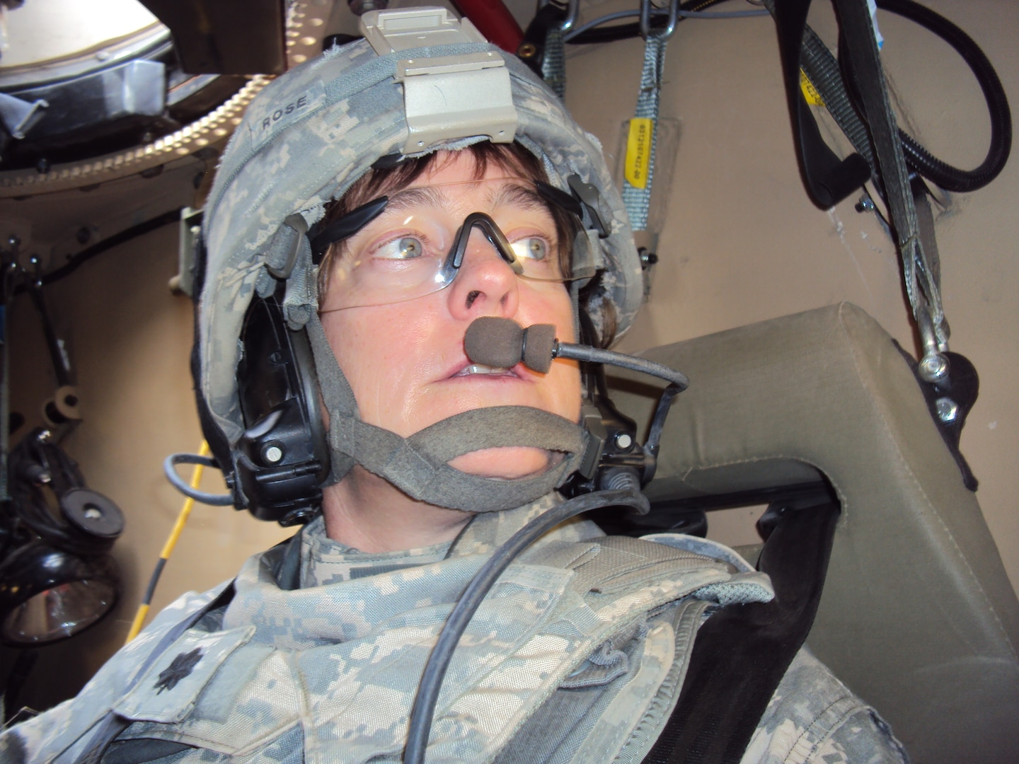Lt. Col. Michelle Rose, commander of the 529th Combat Support Sustainment Battalion, during their deployment to Afghanistan in 2011.