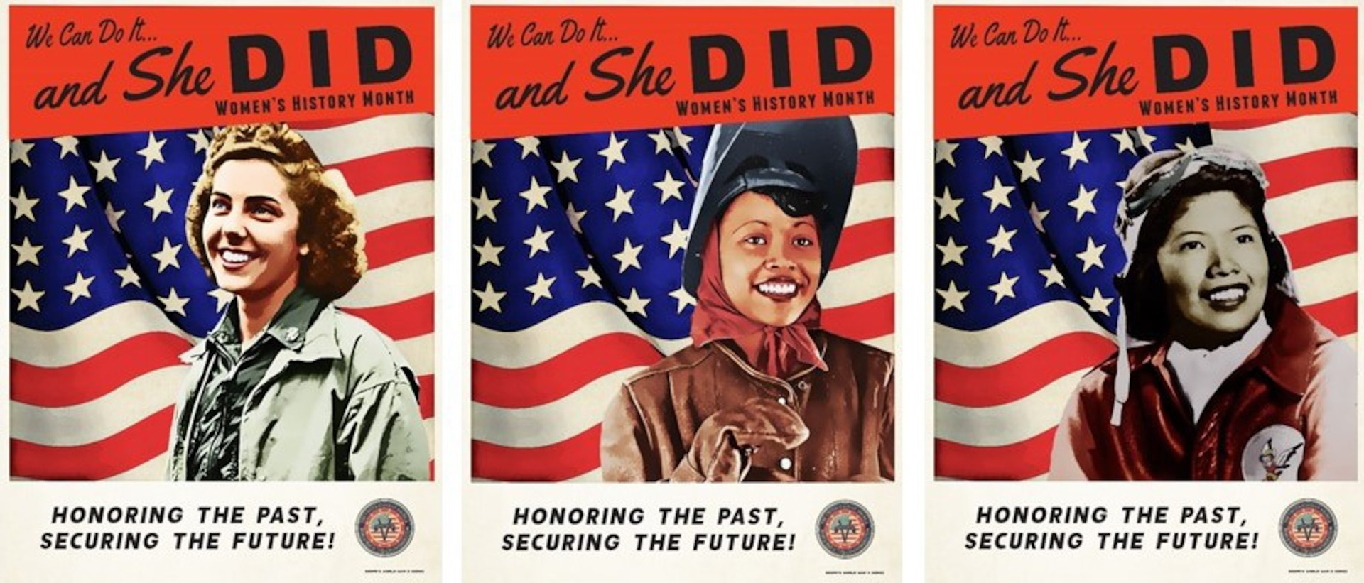During March, Women's History Month posters will be displayed throughout Joint Base San Antonio