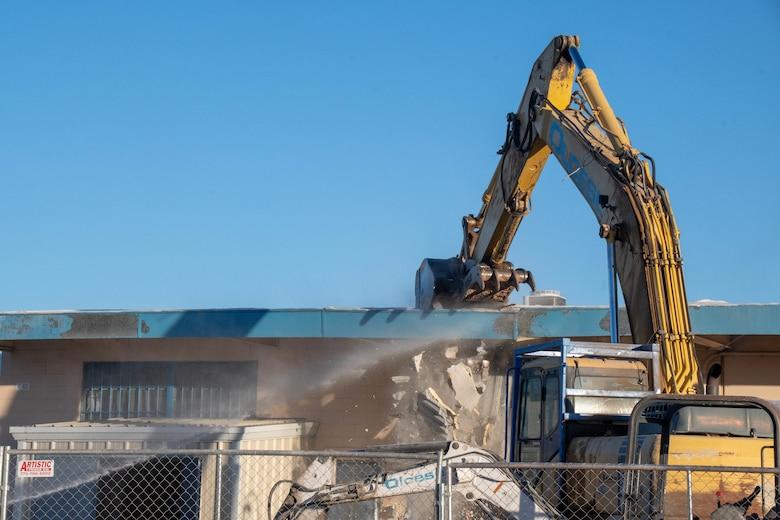 End of an Era: Building 10 Demolished at Nevada Air National Guard Base