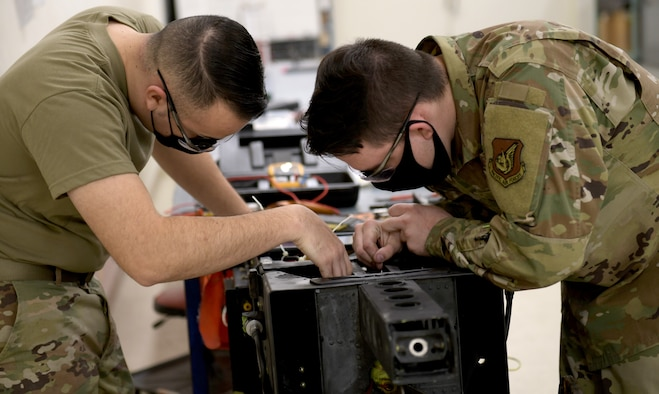 Photo of Airmen working