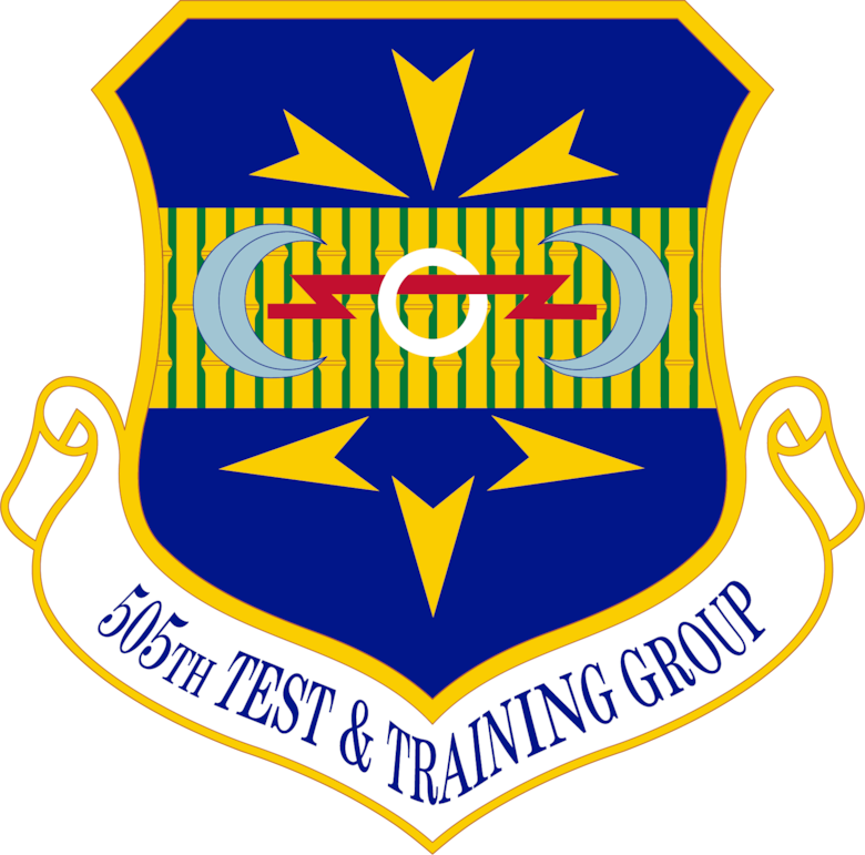 graphic of 505th Test and Training Group emblem