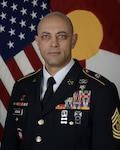 U.S. Army Command Sgt. Maj. John Assaad is the Colorado Army National Guard 169th Field Artillery Brigade command sergeant major. He will assume the responsibilities of the COARNG state command sergeant major in a ceremony March 2, 2021, at Joint Force Headquarters-Colorado, Centennial, Colorado. (Colorado National Guard photo)