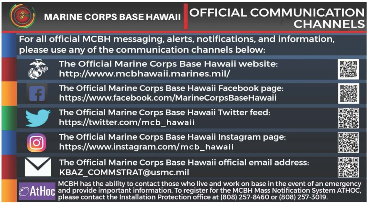 MCBH Official Communication Channels