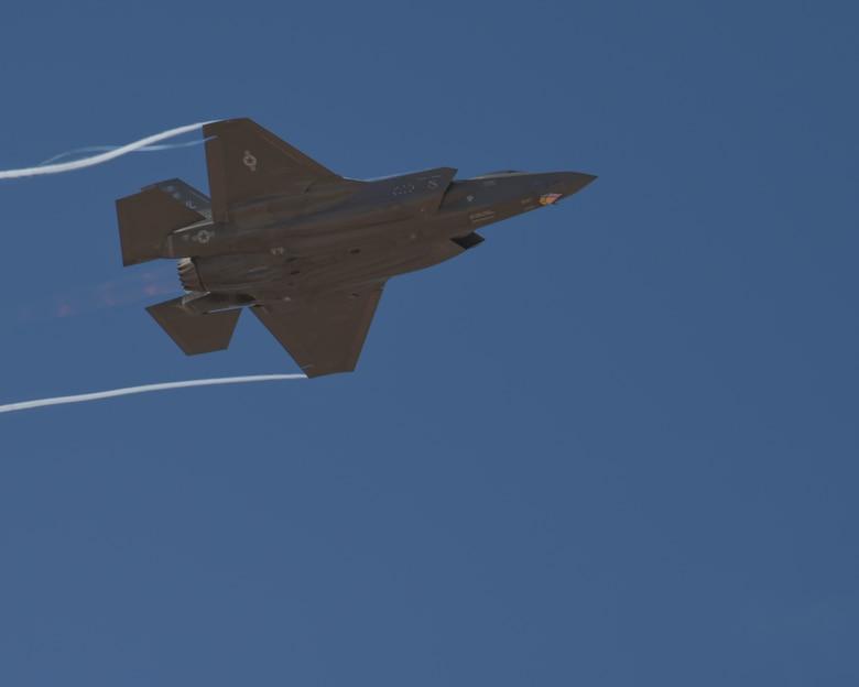 An F-35A Lightning II demonstration flight