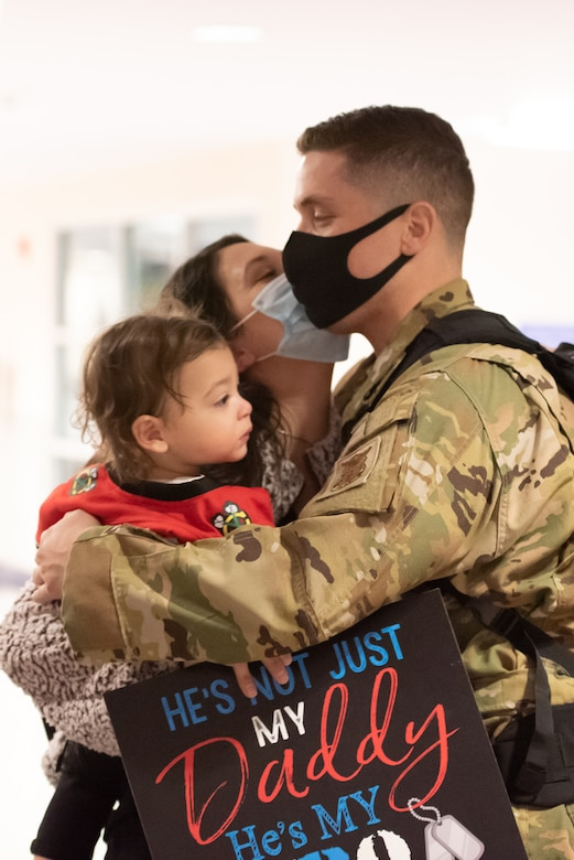 Friends and family welcome home Airmen after a six-month deployment overseas