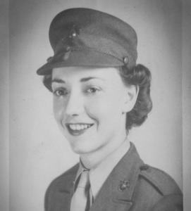 Vintage photo of female U.S. Marine
