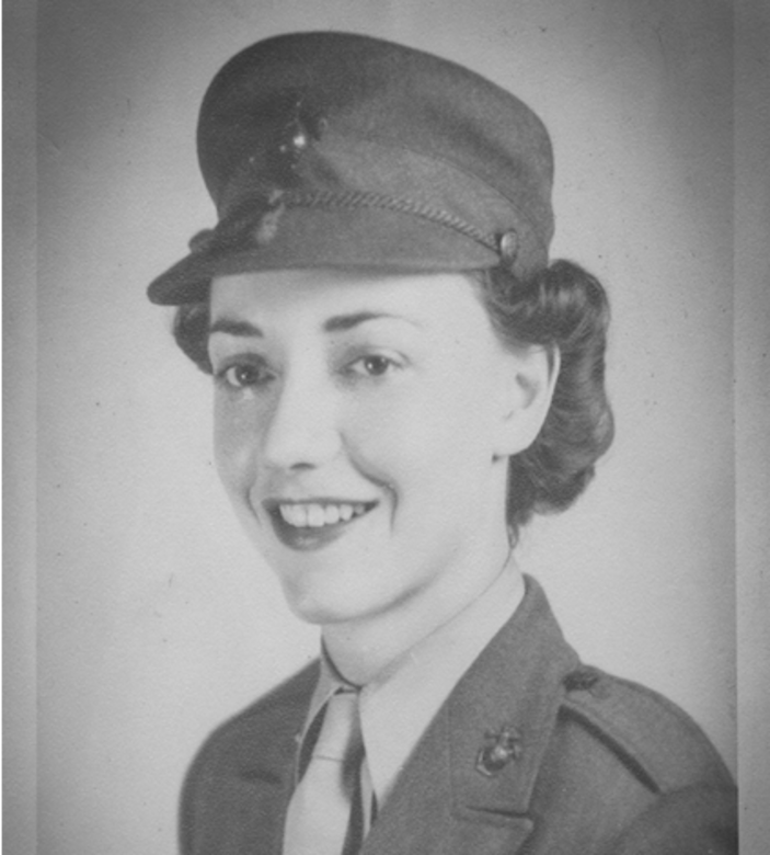 Vintage photo of female U.S. Marine