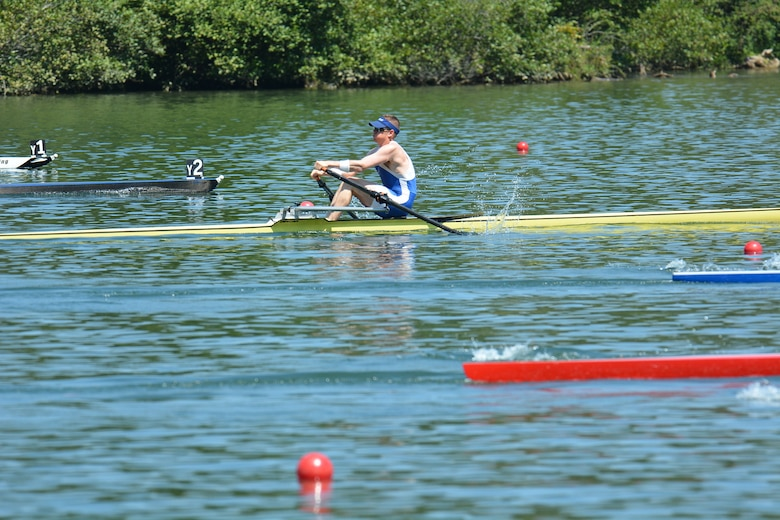 Col. Ben Boehm, competing in the U.S. Rowing Masters National Championship. (Courtesy photo)