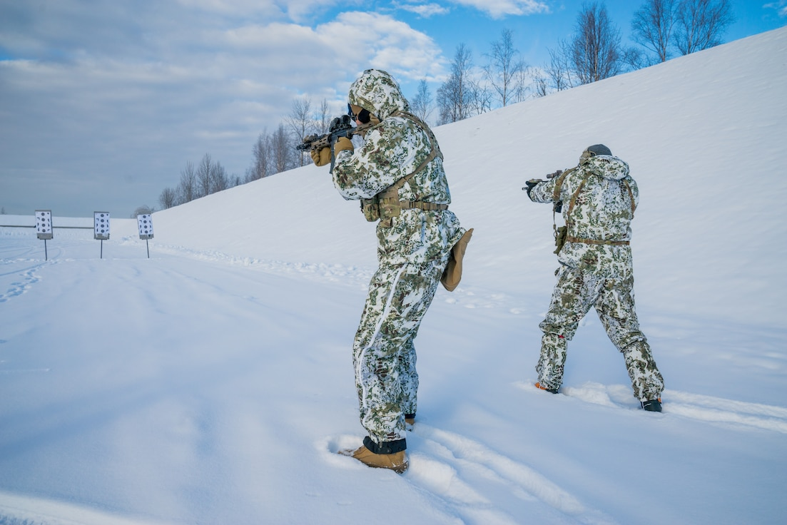 A photo of Airmen conducting cold weather training