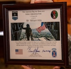 Maj. Gen. Brian Mennes, Commander, 10th Mountain Division, provided a certificate wishing William Hills of Freeport, Illinois, a 97th birthday Jan. 29.