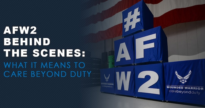"""Every organization has a motto creating the driving force behind all they do. Motto's summarize the purpose or beliefs of an organization and often creates the culture.  The Air Force Wounded Warrior (AFW2) Program's motto is to """"Care Beyond Duty"""" and each staff member has their own way of incorporating that motto into what they do."""