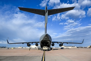 Reservists from the 730th Air Mobility Training Squadron, Altus Air Force Base, Oklahoma, prepare for a training sortie March 4, 2021. The 730th AMTS is a geographically separated unit of the 507th Operations Group, Tinker Air Force Base, Oklahoma, whose mission is to train future KC-135, KC-46 and C-17 pilots, KC-135 and KC-46 boom operators, and C-17 loadmasters. (U.S. Air Force photo by Senior Airman Mary Begy)